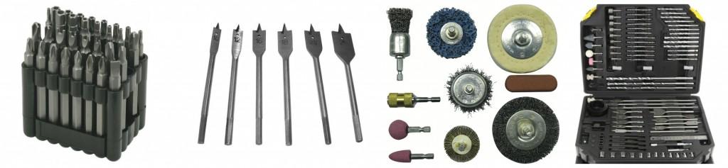 Embouts, forets et meches pour perceuse visseuse sans fil